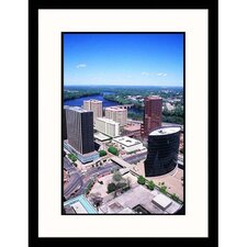 Cityscapes 'Aerial View of Hartford, Connecticut' by Mark Gibson Framed Photographic Print