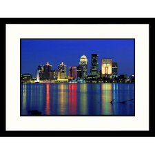 Cityscapes 'Skyline of Louisville, Kentucky' by David Davis Framed Photographic Print