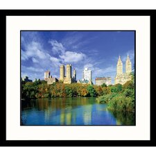 Cityscapes 'Central Park in New York City' by Walter Bibikow Framed Photographic Print