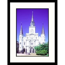 Cityscapes 'St Louis Cathedral in New Orleans' by Erwin Bud Nielsen Framed Photographic Print