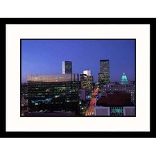 Cityscapes 'Skyline at Night in Denver' by Sally Brown Framed Photographic Print