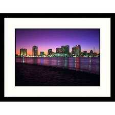 Cityscapes 'Skyline After Sunset in New Orleans, Louisiana' by Kevin Leigh Framed Photographic Print