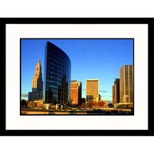 Cityscapes 'Hartford Skyline at Dawn' by Steve Dunwell Framed Photographic Print
