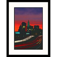Cityscapes 'Skyline of Hartford, Connecticut' by James Lemass Framed Photographic Print