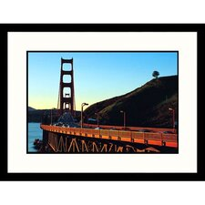 Cityscapes 'Golden Gate Bridge in San Francisco' by Robin Allen Framed Photographic Print