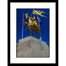 <strong>Great American Picture</strong> Joan of Arc French Quarter in Lousiana Framed Photograph - John Coletti