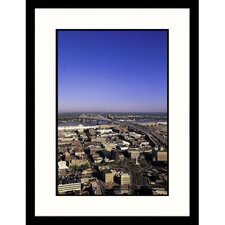 <strong>Great American Picture</strong> Aerial View of New Orleans, Louisiana Framed Photograph - John Coletti