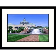 Cityscapes 'Capitol Plaza in Indianapolis, Indiana' by Mark Gibson Framed Photographic Print