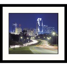 <strong>Great American Picture</strong> Raleigh Night Framed Photograph - Tim Barnwell