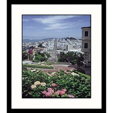 Crooked Street of San Francisco Framed Photograph