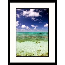 Seascapes 'Turks and Caicos Ocean' by Walter Bibikow Framed Photographic Print