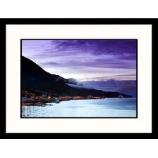 Seascapes 'Southeast Alaska Harbor' by Walter Bibikow Framed Photographic Print