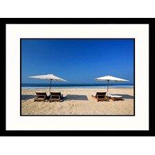 <strong>Great American Picture</strong> Chairs and Umbrellas Framed Photograph - Walter Bibikow