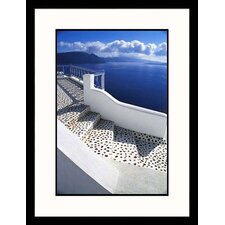 Seascapes Decorated Staircase Framed Photographic Print