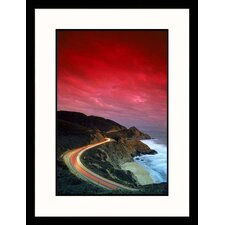 <strong>Great American Picture</strong> Curved Coastal Highway Framed Photograph - Thomas Winz