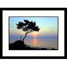 <strong>Great American Picture</strong> Ocean at Sunset Framed Photograph - David White