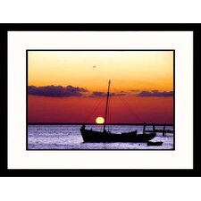 Fishing Boat At Sunset Framed Photograph - Chris Rogers