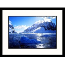 Seascapes 'Boat Heads Into Icy Channel' by Frank Perkins Framed Photographic Print