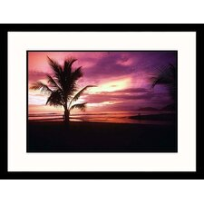 Seascapes Costa Rican Sunset Framed Photographic Print