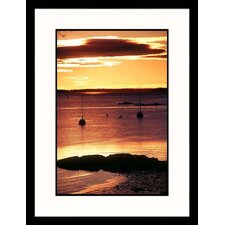 Sunset Over Harbor Framed Photograph - Kindra Clineff