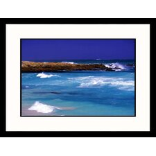 Seascapes 'South African Beach' by Walter Bibikow Framed Photographic Print