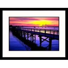 <strong>Great American Picture</strong> Newport Sunset Framed Photograph - James Lemass