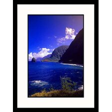 Seascapes 'Coastal View, Hawaii' by Walter Bibikow Framed Photographic Print