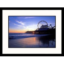 Seascapes 'Santa Monica Pier Sunset' by Mark Gibson Framed Photographic Print