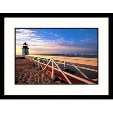 Seascapes 'Lighthouse at Sunrise' by Walter Bibikow Framed Photographic Print
