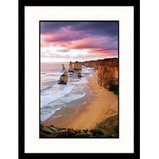 Seascapes 'Stormy Skies Over 12 Apostles' by Peter Walton Framed Photographic Print