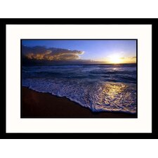 Seascapes 'Miami Beach Sunrise' by Jeff Greenberg Framed Photographic Print