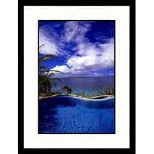 Seascapes 'Little Dix Bay Resort' by Walter Bibikow Framed Photographic Print