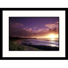 <strong>Great American Picture</strong> Sunset on Shipwreak Beach, Hawaii Framed Photograph - Elfi Kluck