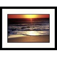 Seascapes 'Sunrise at Kealia Beach, Hawaii' by Elfi Kluck Framed Photographic Print