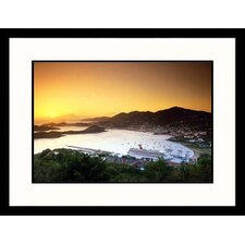 <strong>Great American Picture</strong> St. Thomas Harbour Framed Photograph - Angelo Cavalli