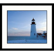 Seascapes Pemiquid Light Framed Photographic Print