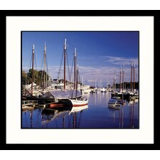 Seascapes Camden Harbor Framed Photographic Print