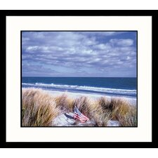 Seascapes Beach and Flag Framed Photographic Print