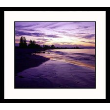 <strong>Great American Picture</strong> Sunset on New England Coast Framed Photograph - Dennis Curran