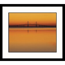 <strong>Great American Picture</strong> Sunshine Skyway Bridge Framed Photograph - Adam Jones