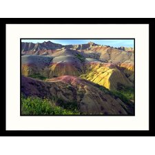 <strong>Great American Picture</strong> Eroding Terrain Badlands - New Mexico, South Dakota ll Framed Photograph - Craig J Brown