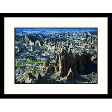 <strong>Great American Picture</strong> Badlands Aerial - New Mexico, South Dakota Framed Photograph - Jack Jr Hoehn