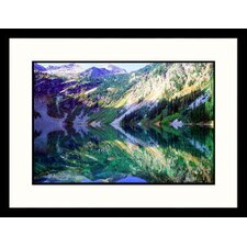 Landscapes 'Rainy Lake, Great Smokey Mt NP, TN' by Jack Jr Hoehn Framed Photographic Print