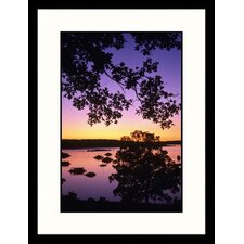 Landscapes 'Sunset, Bull Shoals Lake, Arizona' by MaryAnn and Bryan Hemphill Framed Photographic Print