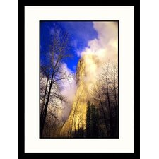 <strong>Great American Picture</strong> Clouds and El Capitan, Yosemite, California Framed Photograph - Jules Cowan