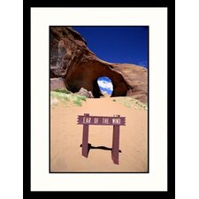Landscapes 'Arizona, Monument Valley, Ear of The Wind' by James Denk Framed Photographic Print