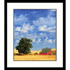 <strong>Great American Picture</strong> Red Barn, Washington Framed Photograph - Mike Ricciardi