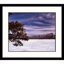 <strong>Great American Picture</strong> Winter Lake Framed Photograph