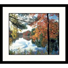 <strong>Great American Picture</strong> Charles River Fall Framed Photograph