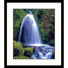 Landscapes Summer Falls Framed Photographic Print